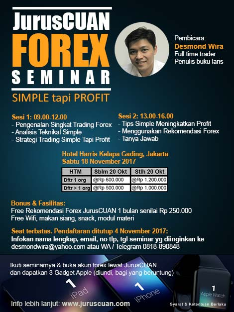JurusCUAN Forex Seminar - Simple Tapi Profit November 2017