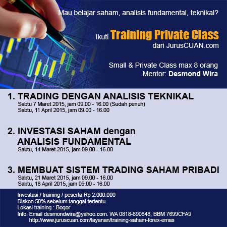 Training Analisis Teknikal Fundamental Sistem Trading Saham